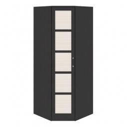 фото Шкаф платяной угловой 'Мебель Трия' Токио СМ-131.09.001 венге цаво/венге цаво/дуб белфорт