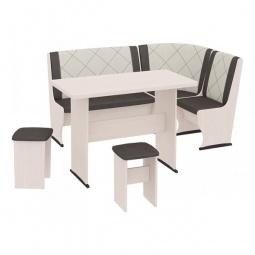 Купить Набор кухонный 'Мебель Трия' Челси Т2 дуб белфорт/лён коричневый/лён бежевый