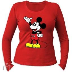 Купить Женская футболка с длинными рукавом «Микки Маус (1)»