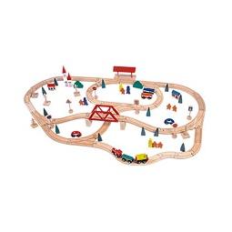 Купить Железная дорога с мостом и вокзалом