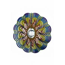 Купить Ветряной спиннер Солнце с кристаллом 25см