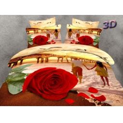 фото КПБ Сатин 2,0 спальный набивной 3D PX95-2 SEDA