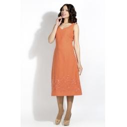 """Купить Платье """"Валери"""" - оранжевый"""