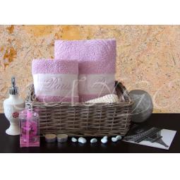 Купить Набор Махровых полотенец Рим из 2 шт 50*90 + 70*140 plt127-2 Турция