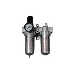 Купить Блок подготовки воздуха (фильтр + регулятор + маслодобавитель) 1/4 (0-10bar), AFRL802 Partner