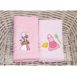 фото Набор махровых полотенец для кухни с вышивкой PLT176-9 Tango
