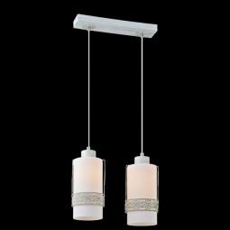 фото Подвесной светильник Eurosvet 50021/2 белый с золотом Eurosvet