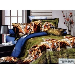 фото Постельное белье сатин семейное Тигр ts05-70 Tango
