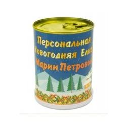 """Купить Растение в банке *Именная новогодняя ель"""""""