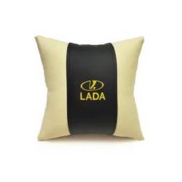 Купить Автомобильная подушка из эко-кожи LADA
