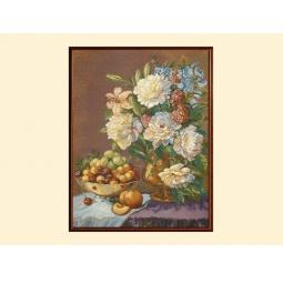Купить Картина из гобелена - Натюрморт с пионами