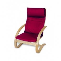 Купить Кресло-качалка 'Петроторг' деревянное 1812K дуб светлый/бордовый