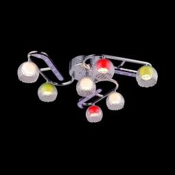 фото Потолочная люстра Eurosvet 0181/7 хром/синий+красный+фиолетовый Eurosvet