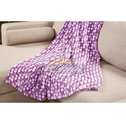 фото Плед флисовый Гамма кружки 130*190 см кружки фиолетовый 701420 Подушкино