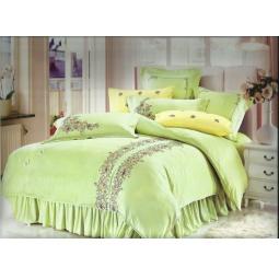 фото Постельное белье Сатин с Вышивкой 2,0 спальное  без оборок 100-59-2 Valtery