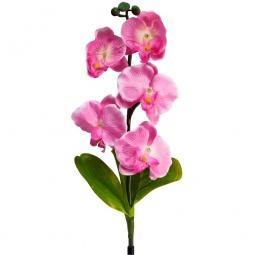 """Купить Светильник садово-парковый на солнечной батарее """"Орхидея розовая"""", 5 LED белый, 70см , PL301"""