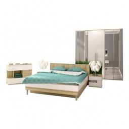 Купить Гарнитур для спальни 'Столлайн' Ирма 13 дуб сонома/белый глянец