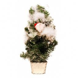 Купить Ели новогодние 'Сибим' Ель новогодняя (45 см) с украшениями ИТ2 45 (серебро)