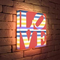 """Купить Лайтбокс """"LOVE 2"""" 35x35-125 FotonioBox"""