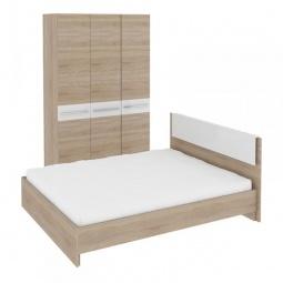 Купить Набор для спальни 'Мебель Трия' Ларго ГН-181.000 дуб сонома/белый глянец
