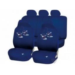 фото Чехлы в салон автомобиля Dice синий-черный