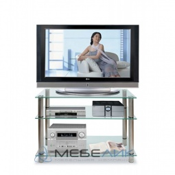 Купить Стеллаж под ТВ 'Мебелик' ТВ-3.100 хром