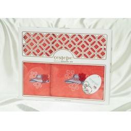 фото Набор Махровых полотенец Cestepe из 2х штук 50*90 см + 70*140 см plt138-4 Турция