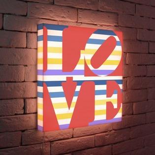 """Купить Лайтбокс """"LOVE 2"""" 45x45-125 FotonioBox"""
