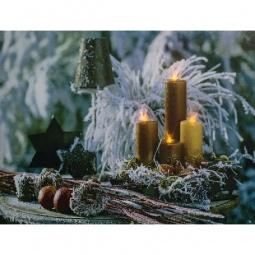 Купить Панно световое 'Feron' (40х30 см) Золотые свечи 26972