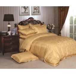 фото Жаккард с вышивкой Семейный 661-5 Темное золото Asabella (Анабелла)