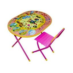 Купить Стол и стульчик ОВАЛ ЦИРК розовый