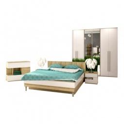 Купить Гарнитур для спальни 'Столлайн' Ирма 9 дуб сонома/белый глянец