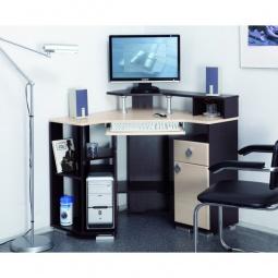 фото 'Олимп-мебель' Стол компьютерный Костер-7 универсальный венге - клен светлый