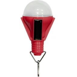 """Купить Светильник садово-парковый на солнечной батарее """"Лампочка"""", 4 LED красный, D 68*155м , PL262"""