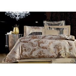 фото Постельное белье Жаккард с вышивкой двуспальный 220-131-2 Valtery