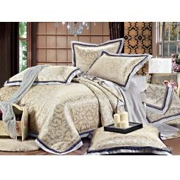 фото КПБ Жаккард с вышивкой 2,0 спальное с 2мя наволочками MARYLAND 44039 Silk-Place