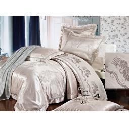 фото КПБ Жаккард с вышивкой Семейный с 2мя наволочками GEORGIA 64037 Silk-Place