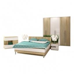 Купить Гарнитур для спальни 'Столлайн' Ирма 19 дуб сонома/белый глянец
