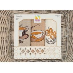 фото Набор полотенец для кухни вафельные с вышивкой PLT179-6 Tango