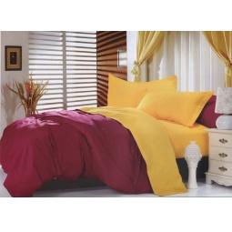 фото Постельное белье Сатин Евро Двухцветное с простыней на резинке dt758-22 Tango