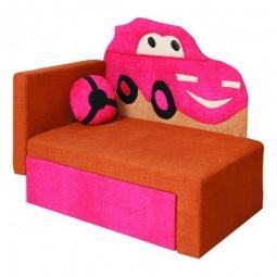 Купить Диван-кровать 'Олимп-мебель' Соната М11-4 Машинка 8021127 коричневый/розовый