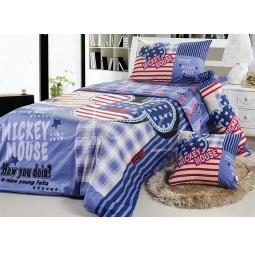 фото Постельное белье для мальчиков 1,5 спальное сатин Микки маус dis010 Tango