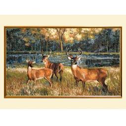 Купить Картина из гобелена - Вердюра с оленями