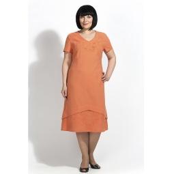 """Купить Платье """"Ютта"""" - оранжевый"""