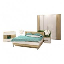 Купить Гарнитур для спальни 'Столлайн' Ирма 20 дуб сонома/белый глянец