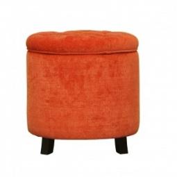 Купить Оранжевый пуф-контейнер на ножках