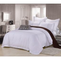 фото Постельное белье Cатин с вышивкой 2 спальное ES20-2 Famille