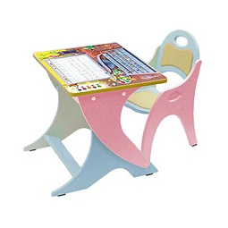 Купить Регулируемая парта и стульчик ФИКСИКИ, розовый/голубой