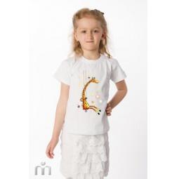 Купить Детская футболка «Жираф на качелях»
