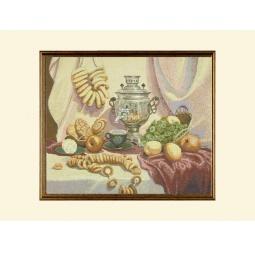 Купить Картина из гобелена - Натюрморт с самоваром